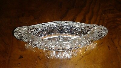 """Clear Depression Glass Canoe Shaped Candle Holder 6"""" x 2"""""""