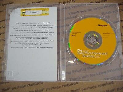 MS Microsoft Office 2010 Home and Business Full English Retail Vers. =BRAND NEW=