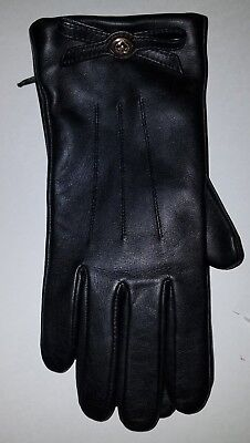 NWT Coach F55189  Turnlock Bow Leather Gloves Size 8 Choose Color