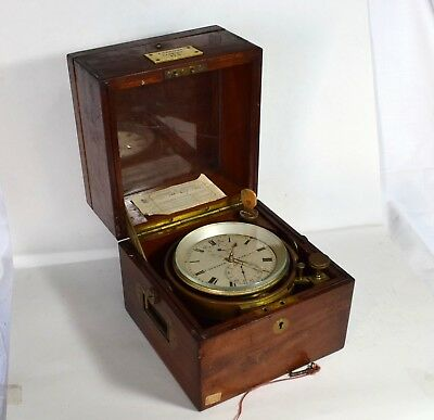 Antique F. DECKER Hamburg Ship Maritime Chronometer Clock no. 175 with box