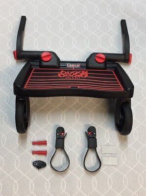 Lascal BuggyBoard Mini - Red/Black - Uncut Connectors - Great Condition
