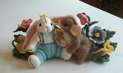Fitz & Floyd Charming Tales I Have A Soft Spot For You Bunnies