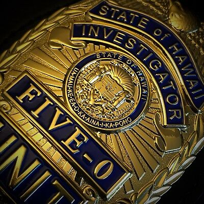 Hist. US Polizei Badge: Hawaii State Police ✪ Special Investigations Unit (5-0)
