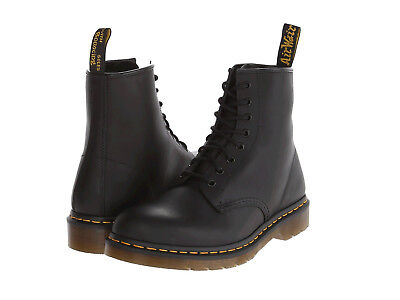 Men Dr. Martens 1460 Hi Top Boot 8 -Eye 11822003 Black Greasy 100% Authentic New