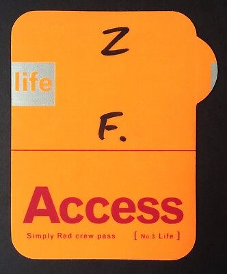 SIMPLY RED 1996 backstage pass