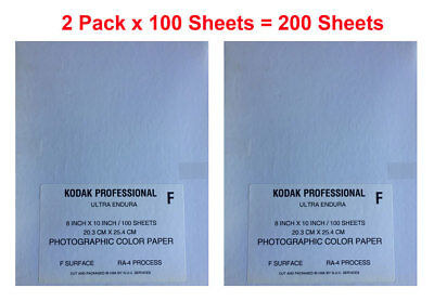 "200x Kodak Endura Photographic Paper Glossy 8x10"" RA-4 Processing Dark Room NEW"