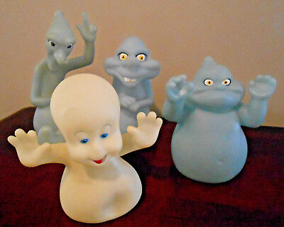 CASPER Lot of 4 Vintage Rubber figurines ~ Casper the Friendly Ghost