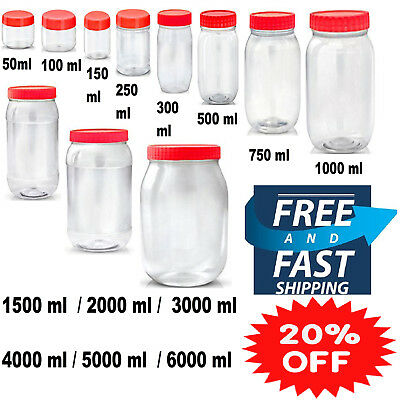Sunpet Plastic Round Red Food Storage Canisters Tea Coffe Sugar Herbs Containers