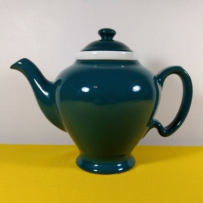 VINTAGE McCORMICK ~ HALL TEA POT GREEN W/ INFUSER MARKED BALTIMORE MD
