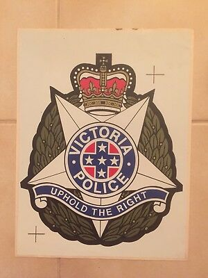 Victoria Police Door Decal