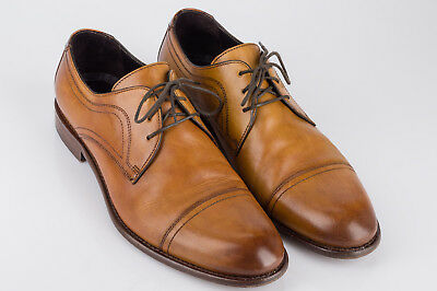 Johnston & Murphy Cartwright Captoe Derby 10M • 24-2612  Handcrafted in Italy