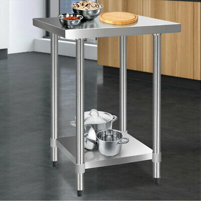 Small Kitchen Work Bench Table 430 Stainless Steel Corrosion resistant 610mm