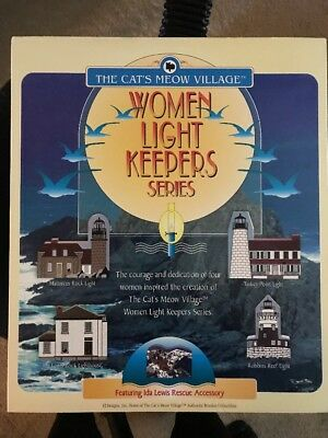 1997 Women Light Keepers Limited Edition Cats Meow Village Series Lighthouses