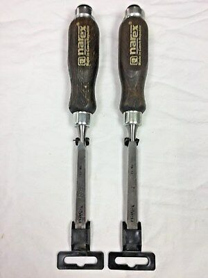 Narex Left & Right Skew Edge Chisels