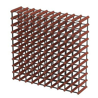110 Bottle Timber Wine Rack - Dark Mahogany - Professional Wine Storage Solution