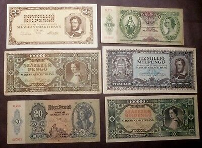 HUNGARY  6 Notes