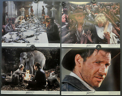 Indiana Jones And The Temple Of Doom 1984 Lobby Card Set 11X14 Harrison Ford