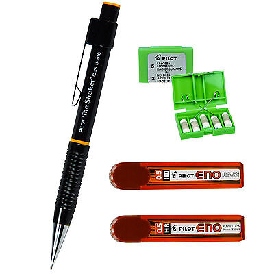 Pilot The Shaker H-1010 H1010, 0.5mm Mechanical Pencil, 4 Piece Set