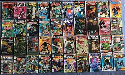 Horror & Mystery Comic Book Lot of 62 Comics- Bronze Age  DC, Marvel, ETC
