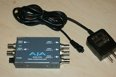 AjA D5DA 1X4 SD-SDI Serial Distribution Amplifier w/Pwr Supply