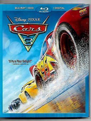 Cars 3 Blu-ray/Dvd Disney Pixar Like Brand New Condition Free Shipping in USA