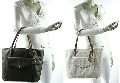 607a6fb6d9bb Michael Kors Jet Set Item Large PKT Multi Function MK Signature Tote NWT  $248.00