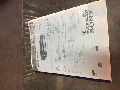 Service manual copy for Sony SL-C9AS Beta VCR