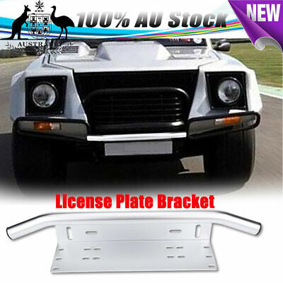 Number Plate Bullbar Frame For Driving Light Bar Mount Mounting Bracket Sliver