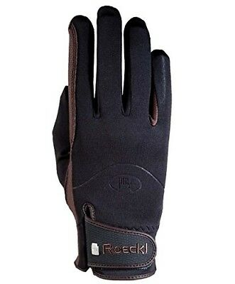 Roeckl Winchester Riding Gloves 7 Black. Brand New