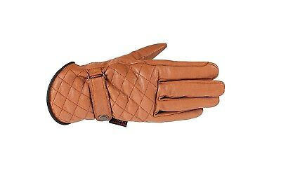 (6, Black) - Horze Selena Quilted Leather Gloves. Delivery is Free