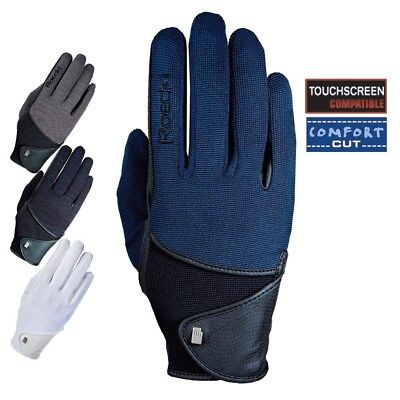 (7, Navy) - Roeckl - riding gloves MADISON. Brand New