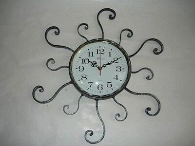 Wall clock quartz wrought iron RAYS