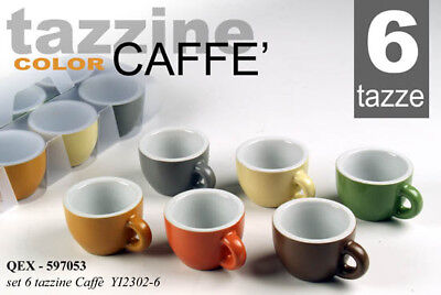 6 Tazzine Color Caffe' 80Ml Qex-597053 One7