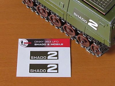 DINKY 353 SHADO 2 Mobile Replacement Green Labels/Stickers