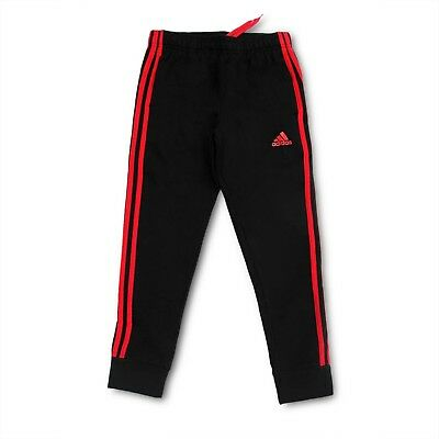 (Youth Xlarge 18/20, Tapered Hem Sweatpants, Black/Scarlet) - adidas Youth