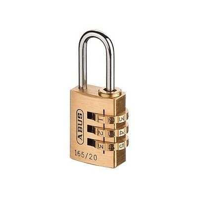 ABUS 16520C 165/20 20mm Solid Brass Body Combination Padlock (3 Digit) Carded