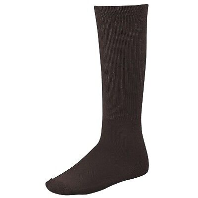 (BRN, Brn) - Twin City Adult All-Sport Solid Colour Tube Socks. Twin-City