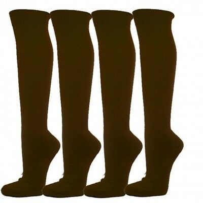 (Large, Dark Brown) - Knee High Premium Quality Sports Athletic Baseball