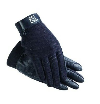 (5, Black) - SSG Kool Flo Riding Gloves. Shipping Included