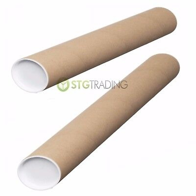 Strong Postal Tubes A4 A3 A2 A1 A0 Full Range of Sizes with Plastic End Caps