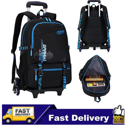 New Kids Children Trolley School Luggage Hand Bag Removable Backpack With Wheels