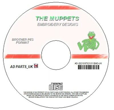 New Muppets Embroidery Designs Cd / Dvd Brother Pes Jef Hus