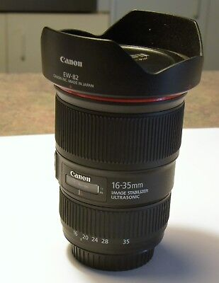 Canon EF 16-35mm f/4 L IS USM Perfect like new condition. Great landscape lens