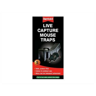 Rentokil PTM80 Live Capture Mouse Traps Pack of 2