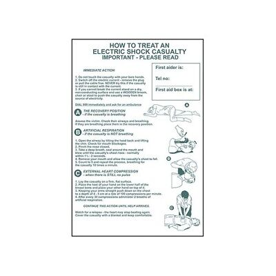 Scan 4240 How To Treat An Electric Shock Casualty - PVC 400 x 600mm