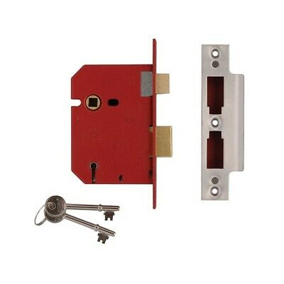 UNION J2201-PL-2.50 5 Lever Mortice Sashlock Brass Finish 65mm 2.5in