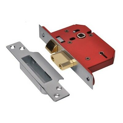 UNION Y2205S-SS-2.5 StrongBOLT 5 Lever Mortice Sashlock Stainless Steel 68mm 2.5