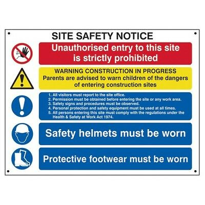 Scan 4550 Composite Site Safety Notice - FMX 800 x 600mm