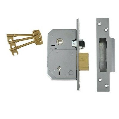 UNION V-3K74E-SC-80 C-Series 5 Lever Mortice Rollerbolt Sashlock Satin Chrome