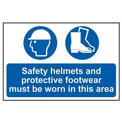 Scan 4001 Safety Helmets + Footwear To Be Worn PVC 400 x 600mm